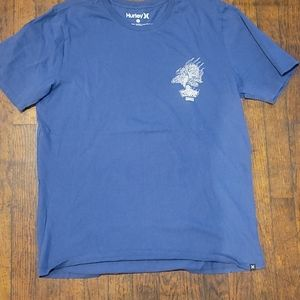 Hurley blue t-shirts size large